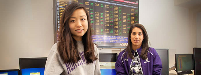 Students in Trading Lab